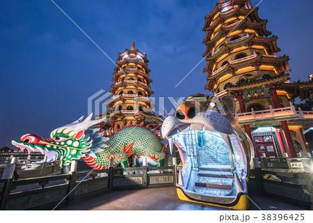 台湾 高雄 龍虎塔 蓮池潭 38396425