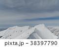 山 冬山 雪山の写真 38397790