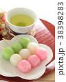 三色団子 団子 和菓子の写真 38398283