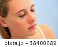 マツエクを施した女性(目瞑り右側面) 38400689