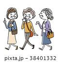 シニア女性:お出かけ、旅行、外出、友達  38401332
