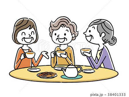 シニア女性:ティータイム、友達 38401333