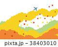 素材-空と飛行機(秋2)テクスチャ 38403010