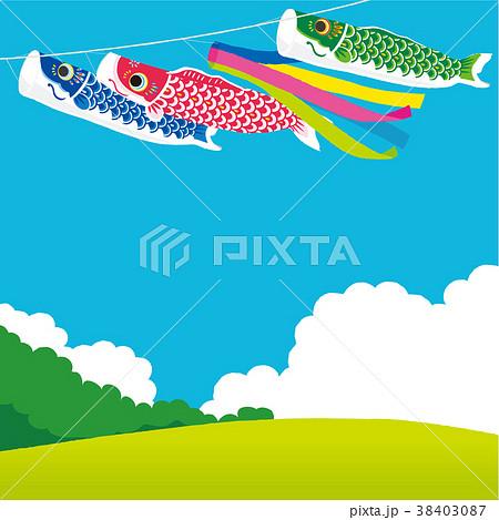 鯉のぼり 背景イラスト 38403087