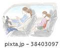 車に乗る家族 38403097