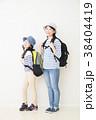 登山 ハイキング 親子 家族 子供 女の子 小学生 女性 38404419