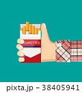 手 煙草 紙巻タバコのイラスト 38405941