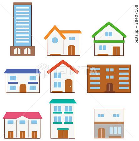 様々な建物のイラスト 38407168