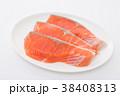 切り身 鮭 しゃけの写真 38408313