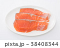 切り身 鮭 しゃけの写真 38408344