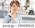 笑顔 ビジネスウーマン 通勤の写真 38408910