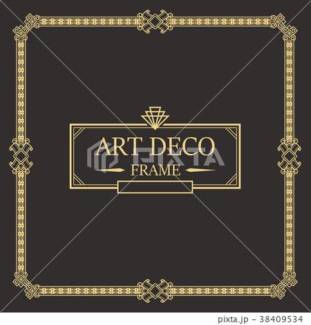 art deco border and frame template のイラスト素材 38409534 pixta