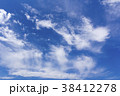 青空 晴れ 白い雲の写真 38412278