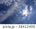 青空 空 白い雲の写真 38412400