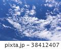青空 空 白い雲の写真 38412407