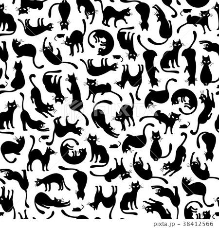 可愛いネコのパターン 38412566