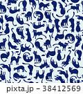 ネコ 動物 動物柄のイラスト 38412569