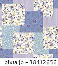 花 花柄 ペイズリーのイラスト 38412656