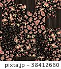 花 花柄 ペイズリーのイラスト 38412660