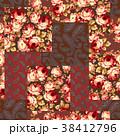 花 花柄 ペイズリーのイラスト 38412796