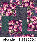 花 花柄 ペイズリーのイラスト 38412798