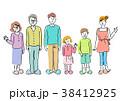 人物 イラスト 家族 38412925