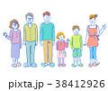 人物 イラスト 家族 38412926