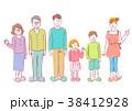人物 イラスト 家族 38412928