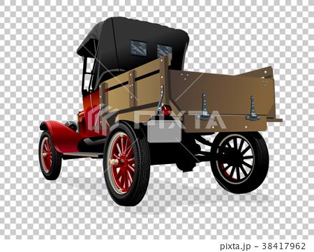 Vector retro truck 38417962
