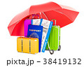 トラベル 保険 パスポートのイラスト 38419132