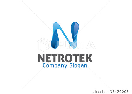 n letter logo design illustrationのイラスト素材 38420008 pixta