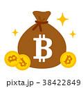 ビットコインと袋 38422849