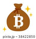 ビットコインと袋 38422850
