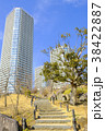 高層マンション 高層アパート 石段の写真 38422887