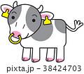 ホルスタイン 丑 牛のイラスト 38424703