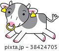 ホルスタイン キャラクター 走る 38424705
