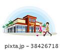 友達と買い物のイラスト 38426718