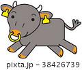 黒毛和牛 キャラクター 走る 38426739
