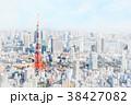 東京都 街 都会のイラスト 38427082