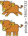 短角和牛 キャラクター セット 38427332