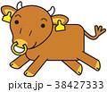 短角和牛 キャラクター 走る 38427333