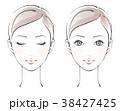 正面を向いた女性 セット、カラー 38427425