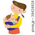 ママ 赤ちゃん 親子のイラスト 38428928