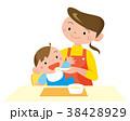 赤ちゃん お母さん 離乳食のイラスト 38428929