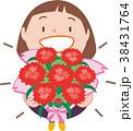 カーネーション 花束 母の日のイラスト 38431764