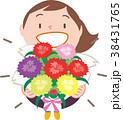 カーネーション 花束 母の日のイラスト 38431765