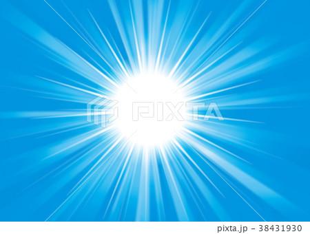 光、放射線(濃い青) 38431930