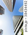 タワーマンション 青空 高層マンションの写真 38434492