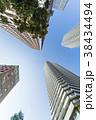 タワーマンション 青空 高層マンションの写真 38434494