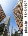 タワーマンション 青空 高層マンションの写真 38434497